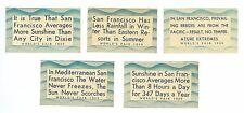 Set 5 Unused 1939 San Francisco Tourist Bureau Golden Gate Inter Expo GGIE Decal