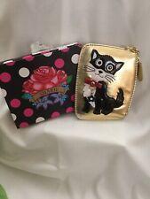 Sharif Coin Purse W Key Holder Zipper Pocket And ID Window- Cat