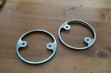 Suzuki ts125/ts185 ts models chrome clock underplates NOS