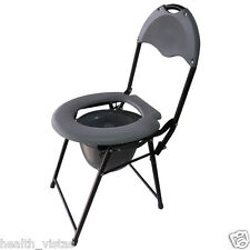 Ryder 200 Commode Chair, Foldable Frame, High Back Rest, Comfort And Stability