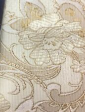 """Brocade Chinese floral / Paisley blossom oriental Light Gold / Beige 38""""wide"""