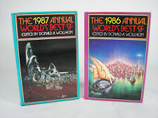 Science Fiction's Annual World's Best SF 1986 & 1987, 2 book lot, Hardcover