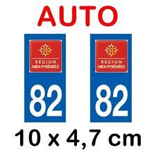 Autocollant plaque immatriculation voiture dpt 82 Tarn et Garonne