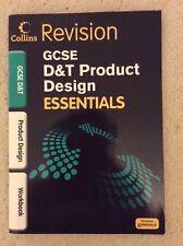 Collins Revision GCSE D&T Product Design essentials workbook, paperback, vgc