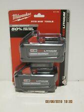 Milwaukee 48-11-1862 M18 Red Lithium High Output XC 6.0 2 Pak-FREE PRI-SHP  NISP