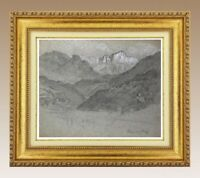 CHARLES WISLIN (1852-1932) SUPERBE VUE DE BOLZANO EN ITALIE VERS 1924 (297)