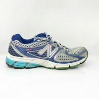 New Balance Womens 860 V3 W860SB3 Blue Gray Running Shoes Lace Up Size 11 2A
