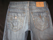 True Religion Mens Jeans Billy Flap Pocs Relaxed Straight Distressed  Sz 33 x 31