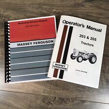 Set Massey Ferguson 205 Mf205 Tractor Service Manual Operator Repair Shop Books