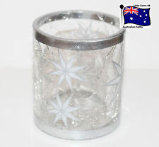 Yankee Candle Arctic Star Crackle Glass Votive or Tealight Holder