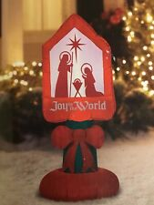 Airblown Inflatable-Joy to the World Sign 3.5ft by Gemmy Industries