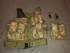 Air-Soft Tactical Vest Camo Woodland Digital Body Armour with Lots Pockets Belt