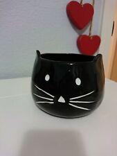 Pottery Barn Black Cat Halloween Figural Bowl