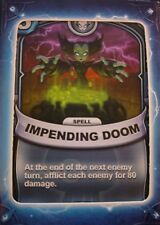 Skylanders Battlecast Collector's Card Spell Impending Doom