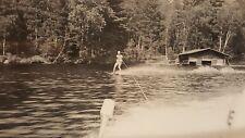 Vintage Anonyme Artistique Photo Snapshot Vernaculaire Photographie Ski Nautique