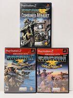 PlayStation 2 SOCOM I + II U.S. Navy Seals + Combined Assault PS2 Fast Free Ship