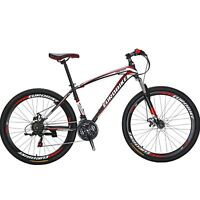"EUROBIKE Mountain Bike 27.5""  Bicycle 21 Speed Disc Brakes Front Suspension MTB"