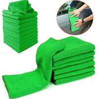 10x Microfiber Car Wash Towel Super Absorbent Auto Cleaning Drying Hemming Cloth