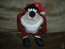 Mcdonalds Plush Taz Christmas Taz Santa 1992 w/tags