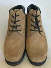 Land's End Women's Size 7B Tan Suede Leather Ankle Lace Up Boots 67913 New