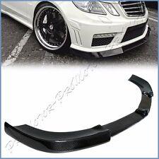 Carbon Fiber V Look Front Extend Lip Benz 11-12 W212 PreFacelift E63AMG Bumper