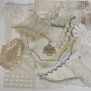 Vintage to Antique Lace and Trim Scraps  Bits and Pieces Rescued From the Past