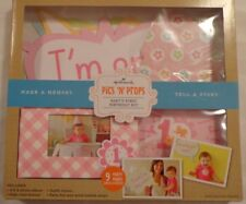 Hallmark Make A Memory Kit Baby Baby'S First Birthday Pics 'N' Props Pink Girl 1