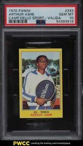 1970 Panini Campioni Dello Sport Tennis Arthur Ashe ROOKIE RC #333 PSA 10 GEM MT