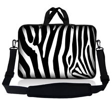 "10"" 9 Tablet Netbook Sleeve Bag Case Pouch Shoulder Strap iPad Galaxy Zebra"