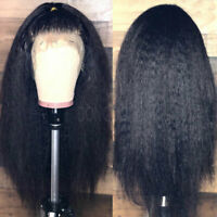 360 Lace Frontal Wig Yaki Straight Italian Human Hair Wigs Pre Plucked Natural h
