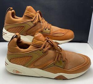 Puma Men's Shoes Blaze Of Glory Trinomic NL Leather Sneakers 359312-03 UK 10.5