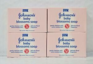 4 Bars- Johnson's Baby Blossoms Bar Soap-100g-Each