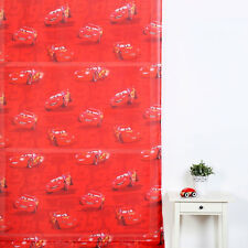 Disney Cars Curtain Rod Pocket Sheer Curtain Lightning McQueen Boys Kids Bedroom