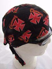 51ecaaa1ef10 zandana bandana croix de malte rouge choppers fond noir biker, harley, usa, moto