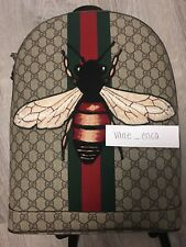 Authentic Gucci Web Animalier Backpack with Bee GG Supreme ( Men )