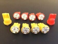 10 Pontiac Front Rear Amber Red Side Marker Lense LED Light Bulb Lamp Park NOS