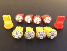 10 Pontiac Front Rear Amber Red Side Marker Lense LED Light Bulb Lamp Park NOS