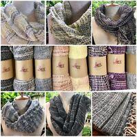 Scarf Thai Organic Cotton Soft Hand Woven Scarves Thai Cotton Organic Dye Wrap