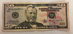 SERIES 2013 $50 DOLLAR BILL FEDERAL RESERVE STAR NOTE