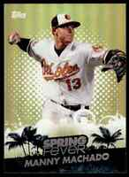 2013 TOPPS SPRING FEVER MANNY MACHADO RC BALTIMORE ORIOLES #SF-9 INSERT