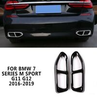 Rear Exhaust Muffler Tail Pipe Cover For BMW  7 Series M Sport G11 G12 2016-2019