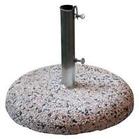 Base per ombrellone giardino in graniglia 25 kg fornita con tubo zincato 4,2 cm
