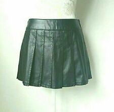 Lip Service Leather Pleated Mini Skirt Black S