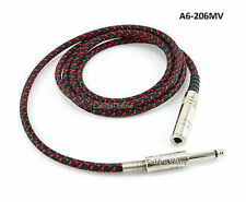 "6ft CablesOnline 1/4"" Mono Male to Female Woven Guitar/Bass Extension Cable"