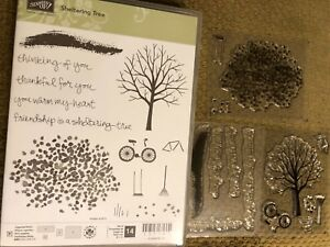 Stampin Up New SHELTERING TREE Photopolymer Stamp Set ~ Fall, Leaves