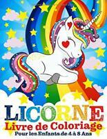 Licorne Livre de Coloriage Pour les Enfants de 4 à 8 Ans — Livres Hibou