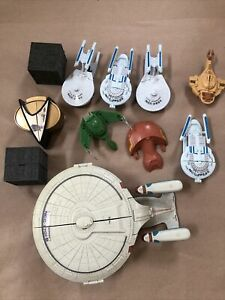 Star Trek Innerspace Figure Lot of 10Playmates Mini Playsets Micro & 22 crewman
