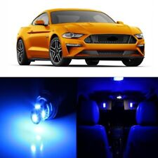 9 x Blue LED Interior Light Package For 2015 - 2019 Ford Mustang + PRY TOOL
