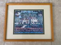 Vintage Charles Wysocki Gingernut Valley Print Framed Matted
