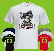 The Beast Thai Mens PRINTED T-SHIRT Gorilla Fighter Fight Animal